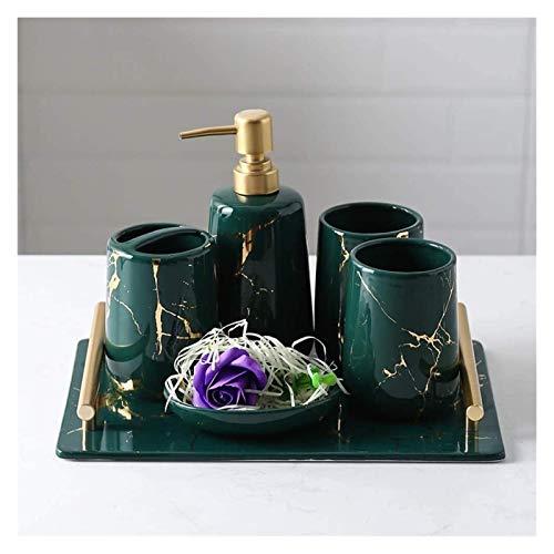Dispensador de jabón líquido Vintage Cerámica Accesorios de baño, conjunto de accesorios...