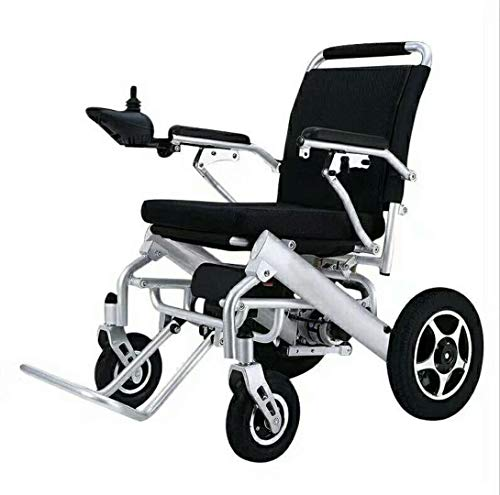 YEAY Deluxe Lightweight Folding Carry Electric Wheelchairs, Powerful Dual Motorized Wheelchair,Longest Driving Range Power Wheelchair,Suitable for Elderly and Disabled