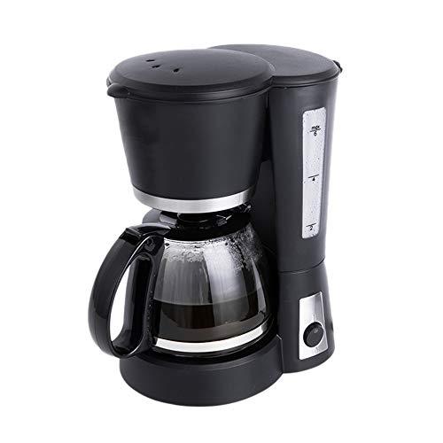 Koffiezetapparaat 5-kops, automatische koffiemachine met één druk op de knop en brandwerende glazen karaf, compacte zwarte koffiezetter, voor thuiskantoor