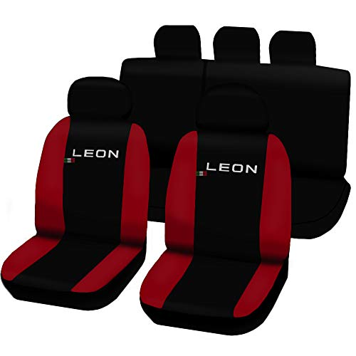 Lupex Shop n.r–Fundas para Asientos Seat Leon 3A Serie Bicolor en Piel
