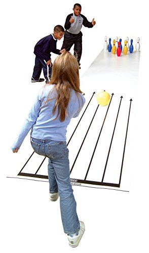 Cramer Cosom Indoor Bowling Lane for Use with Lightweight Plastic or Foam Pins and Balls, Physical Education Equipment, Childrens Bowling Lane, Plastic Bowling Equipment, Childrens Toy Bowling Lane