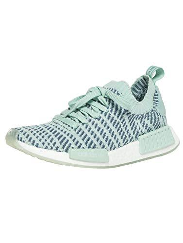 Adidas Schuhe NMD_R1 STLT Primeknit Ash Green-Raw Steel-Footwear White (CQ2031) 37 1/3 Gruen