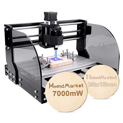 【7 W】 Fresadora CNC de escritorio de 3 ejes, fresadora para madera acrílica