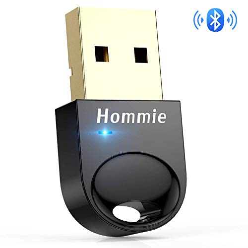 Hommie Chiave USB Bluetooth, Adattatore USB Bluetooth 4.0, Chiavetta USB Bluetooth per Window7, XP,8, 8.1,10, Compatibile Cuffie Tranne Apple, Altoparlanti, Mouse, Tastiera, PS4 Non collega Le Cuffie