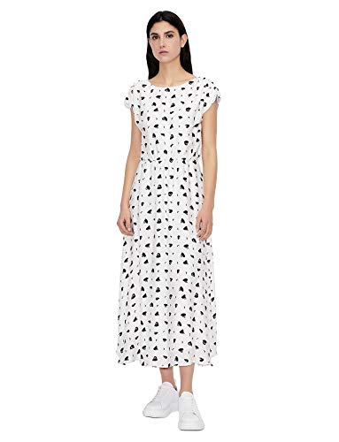 Armani Exchange Womens White GR./ Black HEA Business Casual Dress, 0