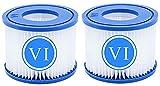 Maktn Cartuchos de filtro para piscina tipo VI para Bestway, tamaño 6, 58323, para filtro de piscina Bestway Flowclear, piscina para Lay-Z Spa (2 unidades)