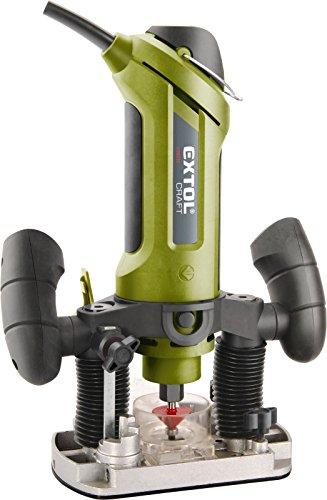 Extol craft multifunzione fresatrice con guide per dritto e rotonda fraesungen, Bowden, 1pezzi, verde, 408010