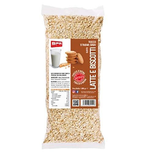 BPR Nutrition Fiocchi d'Avena baby al gusto Latte e Biscotti - 1 Kg
