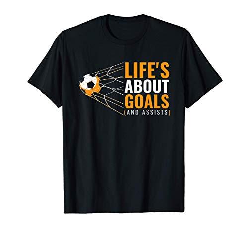 Soccer Shirt for Boys   'Life's About Goals'   Boys Soccer T-Shirt