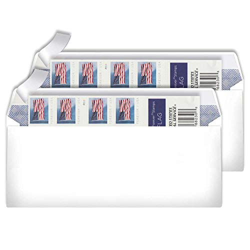 The News Stamps Business Envelope Matching 2019 Forever Postage Stamps - Book of 20 (2 Sets)