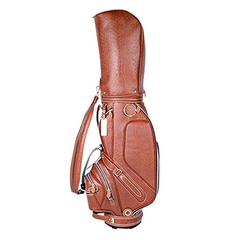 JIAGU Tragbare Tragetasche Premium Leichte Golf Cart Bag Golf Stand Bag for Männer und Frauen Golf Club Reisetasche (Color : Brown, Size : 45x25x126cm)