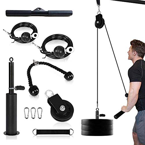 Sistema de fitness de polea de elevación, entrenador de rodillo de muñeca para antebrazo, bíceps, tríceps, ejercicio de entrenamiento de fuerza de brazo resistente, equipo de fitness para de antebrazo