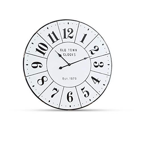 Loberon Uhr Dolana, Eisen, H/Ø ca. 6/83 cm, antikweiß