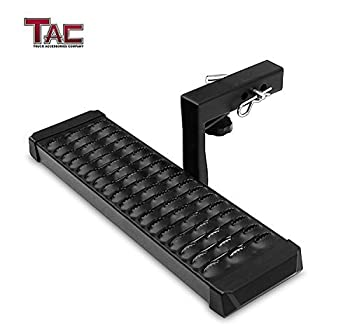 TAC Aluminum Hitch Step Universal Fit 2  Rear Hitch Receivers with 6  Drop