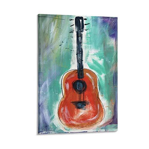 xianfan Póster de guitarra de narrador de cuentos con lienzo decorativo para pared, para sala de estar, dormitorio, 45 x 30 cm