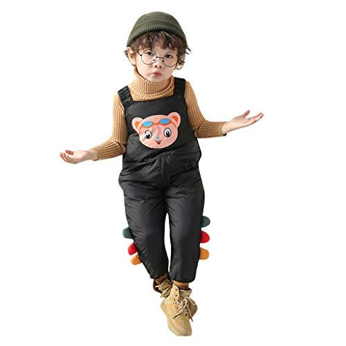 YWLINK Pantalones Calientes Bebé NiñO NiñA Mono De Babero con Traje De AlgodóN 3D De Dibujos Animados Calidez Al Aire Libre A Prueba De Viento Traje De Esquí Lindo Pantalones Casuales OtoñO Invierno