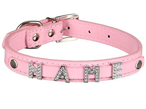 Scarlet pet   Hundehalsband »My-Name« inkl. 5 Strass-Buchstaben; mit Namen ihres Hundes personalisierbar; zusätzliche Buchstaben bestellbar (L: 46 cm, Rosa)