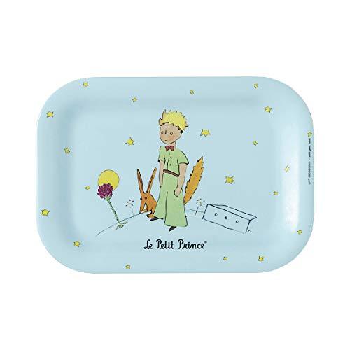 Le Petit Prince Petit Jour Paris PP970P - Mini bandeja para servir un pequeño té sin mietas, color azul