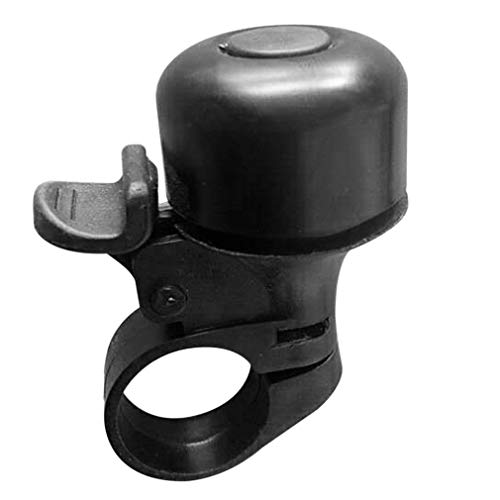 Mini campanello per bicicletta, nero, campanello forte e chiaro, per mountain bike, mountain bike, mountain bike, allarme corno e bicicletta, anello per bici da corsa, per manubrio da 35 mm