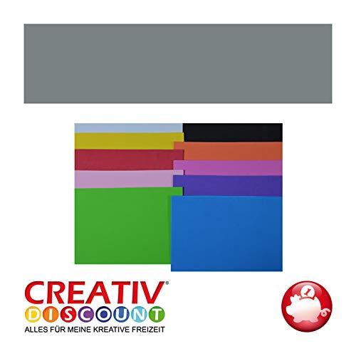 CREATIV DISCOUNT® NEU Moosgummiplatte, 29 x 20mm, 10Stk., Grau
