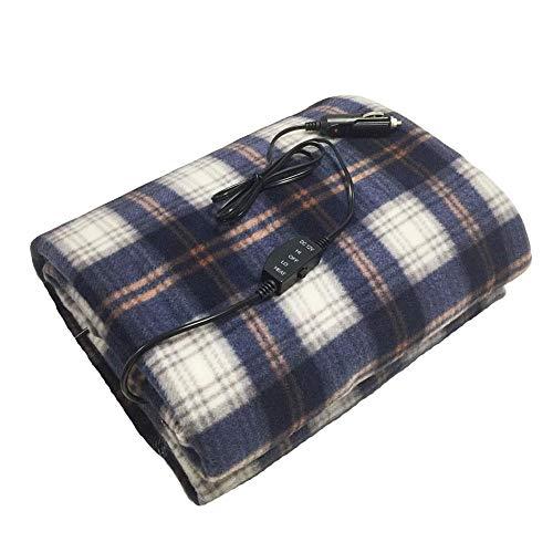 Verloco elektrische deken, groot, 12 V, stopwatch, verwarmingsdeken, elektrisch, voor auto, winter, hoge en lage temperatuur, verstelbaar, geschikt voor reizen, camping, RV Wit.