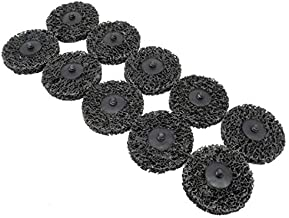 Varadyle 10Pcs 3Inch Strip Disc Quick Change Abrasive Disc Easy Strip Clean Grinding Wheels for Rust Removal Black