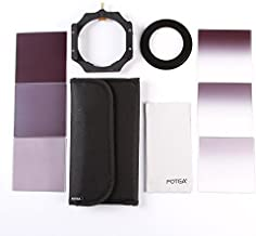 Fotga 4x4 100mm Square Filter Set 3pcs Square Neutral Density Filter ND2 3pcs Gradual Neutral Density Filter ND2 8 1pcs Filter Holder  1pcs Clean Cloth  1pcs 6-slots Filter Case 1pcs Adapter Rings  58mm  for Cokin Series and Matte Box Filter