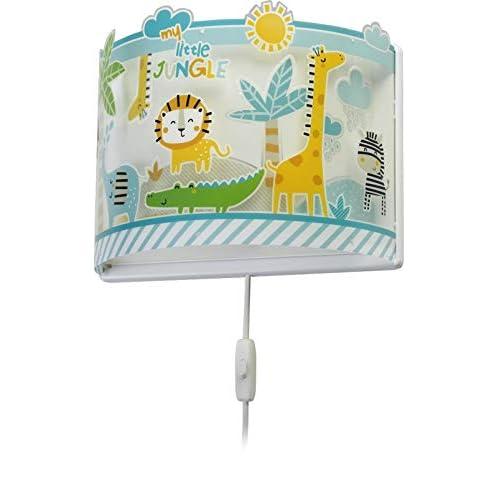 Dalber - Lampada da soffitto E-27, Giungla, Multicolore, 31 x 13 x 23.5