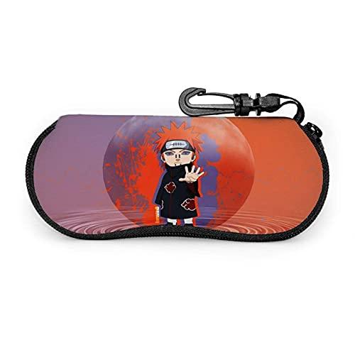 Estuche para gafas Anime N-a-r.u-to Pain Estuche para anteojos Estuche para gafas de sol de neopreno ultra suave y ligero portátil Estuche para anteojos con cremallera Estuche para anteojos con mosqu