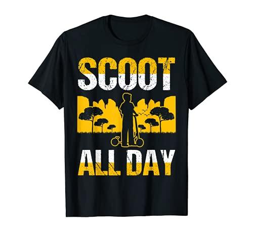 Scoot-todo el día Scootering Cotizaciones Memes Camiseta
