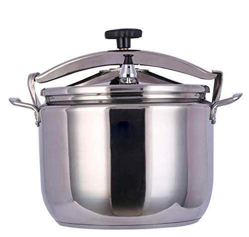 Cocina de presión Cocina de presión sellada de acero inoxidable comercial adecuado para la cocina de inducción, estufa de cerámica eléctrica de llama abierta, etc. ( Color : Silver , Size : 30cm 15L )