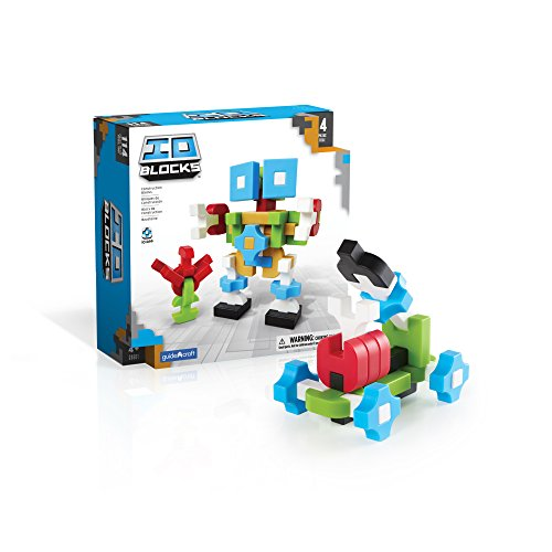 Guidecraft IO Blocks Digital Puzzle Building STEM Educational Construction Toy 114 - Piece Set
