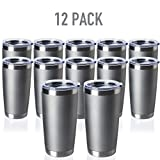 TDYDDYU 12 pack 20 OZ Double Wall Stainless Steel Vacuum Insulated Tumbler Coffee Travel Mug With...