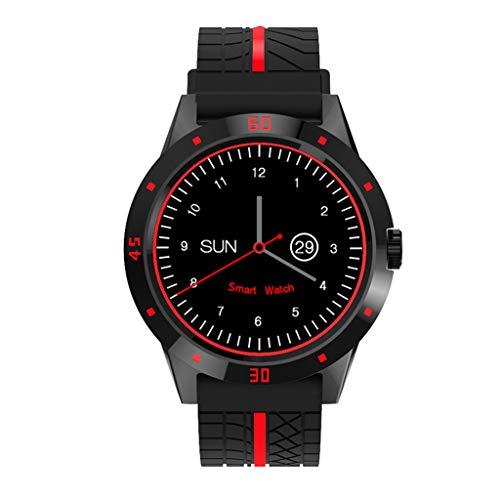 WJSEIF Reloj Deportivo Reloj Inteligente Bluetooth con Control Remoto de la cámara Podómetro Deportes Fitness Tracker Reloj de Pulsera de Ritmo cardíaco para iPhone Huawei
