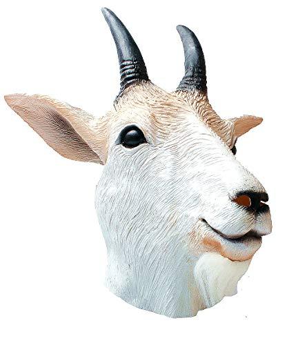 Goat mask-Goat Antelope Animal Head Mask Novelty Halloween Costume Party Latex Animal Mask Full Head for Adults