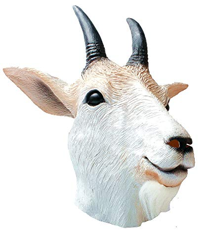 Goat mask-Goat Antelope Animal Head Mask Novelty Halloween Costume Party Latex Animal Mask Full Head for Adults