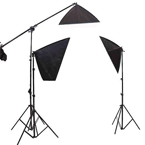 De professionele fotografie drie in een zacht licht - Suite met 2x 65W LED - lamp, 2x licht staan, 2x zachte kist, Europese stekker en het Verenigd Koninkrijk de stekker, foto - video - Studio, 3X150w LED package