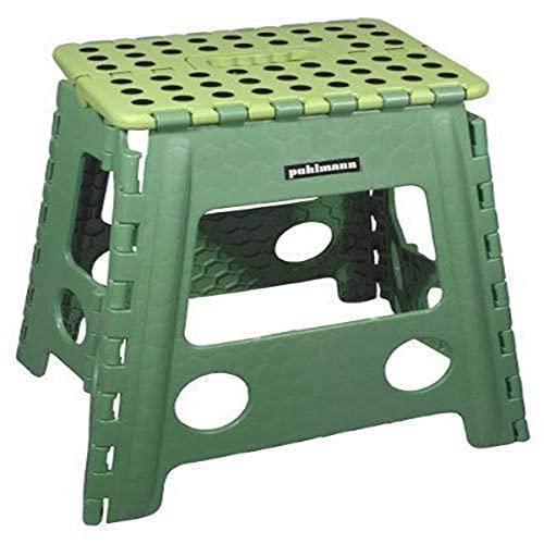 Capventure James XL - Taburete Plegable, Color Verde