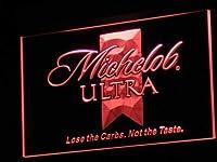 Michelob Ultra Beer LED看板 ネオンサイン ライト 電飾 広告用標識 W60cm x H40cm レッド