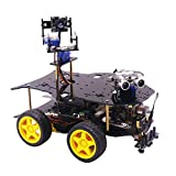 Dittzz Robot programable Smart Robot Car compatible con Raspberry Pi 4 + Arduino UNO Kit de construcción de coche 4WD programable con Bluetooth, cámara y módulo WiFi (con frambuesa 4B) - 4G de memoria