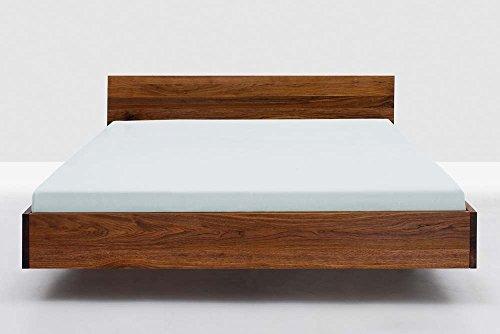shogazi  Schlafkultur Massivholzbett Simple HI - einfach geformtes Designerbett, amerikanisches Nussbaum massiv, Größe:180x200cm