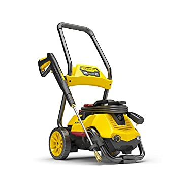 Stanley SLP2050 2050 psi 2-in-1 Electric Pressure Washer Mobile Cart Or Detach Portable Use With Detergent Tank, Yellow, Medium