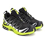 Salomon XA Pro 3D GTX, Zapatillas de Trail Running para Hombre, Negro/Lima (Black/Lime Green/White), 42 2/3 EU