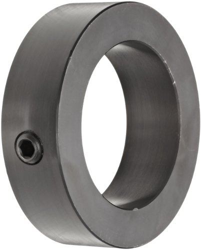 Climax Metal C-106-BO Shaft Collar, One Piece, Set Screw Style, Black Oxide Plating, Steel, 1-1/16