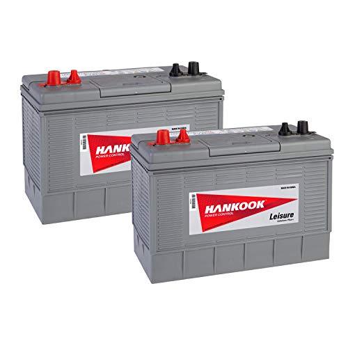 2x Hankook XV31 12V 100Ah Batterie Décharge Lente Pour Loisir, Caravane, Camping Car, Bateau - 330x172x242mm