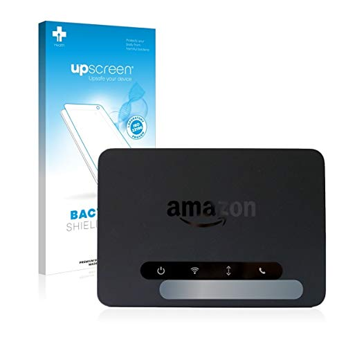 upscreen Bacteria Shield Clear Displayschutz Schutzfolie für Amazon Echo Connect (Display) (antibakterieller Schutz, hochtransparent)