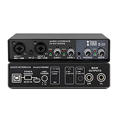 Amazon - 50% Off on E22 Audio Interface True Stereo Sound Card For Recording For PC/Win/Mac