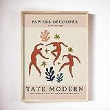 UHYGT Carteles e Impresiones de Matisse Fauvismo Cuadros de Arte de Pared Figura de Danza Abstracta Pintura de Lienzo Minimalista Decoración de Sala de Estar 50x70cmx1 Sin Marco