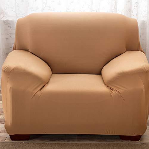 Yuany Psh Funda de sofá de 1/2/3/4 plazas Tck Slipcover Sofacovers elástico Elástico Sofá Cubre Toalla Wrap Wrap Camello 2 plazas, marrón claro, 4seater