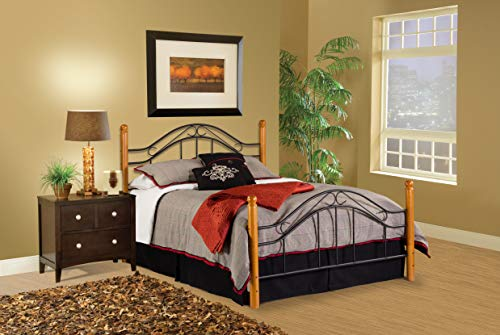 Hillsdale Furniture 164BQR Winsloh Bed Set with Rails, Queen, Black